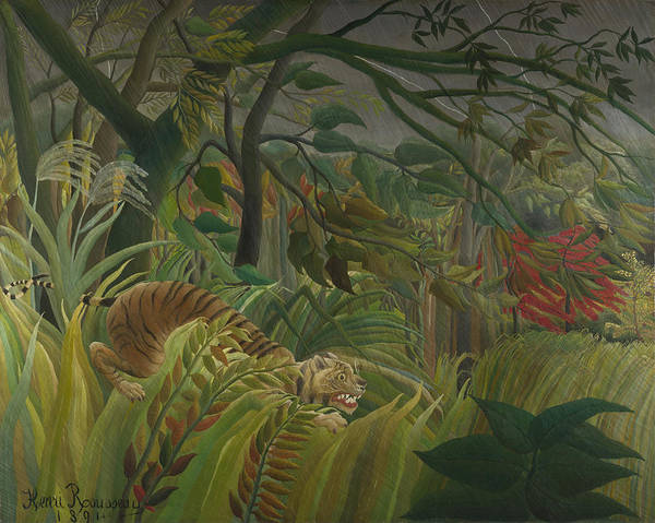 Southern France Painting - Surprised by Henri Rousseau