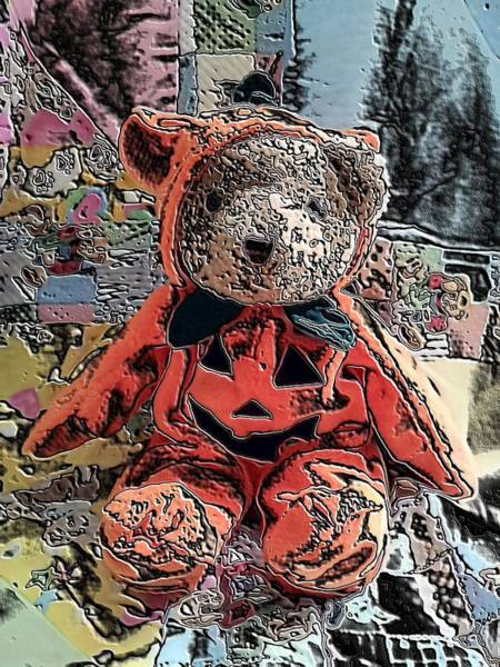 Digital Art - Teddy Bear by Belinda Cox