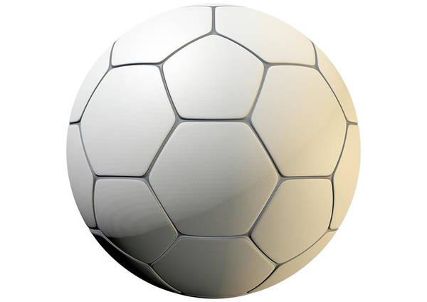 Wall Art - Digital Art - Textured Soccer Ball Closeup by Allan Swart