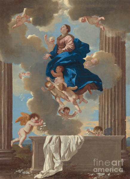 Ascension Painting - The Assumption Of The Virgin by Nicolas Poussin