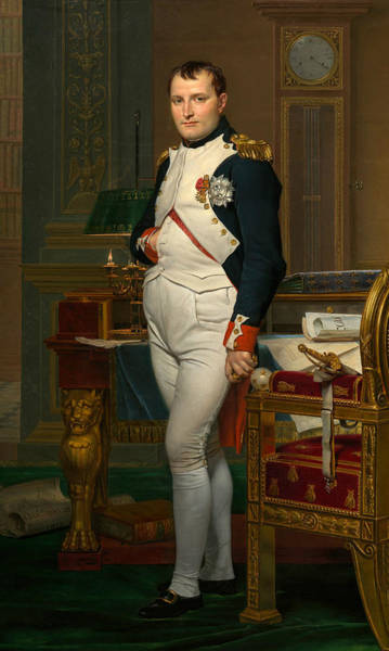 18th Century Wall Art - Painting - The Emperor Napoleon In His Study At The Tuileries by Jacques-Louis David