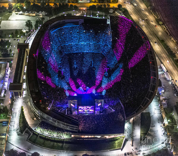 Phil Lesh Photograph - The Grateful Dead At Soldier Field Aerial Photo by David Oppenheimer