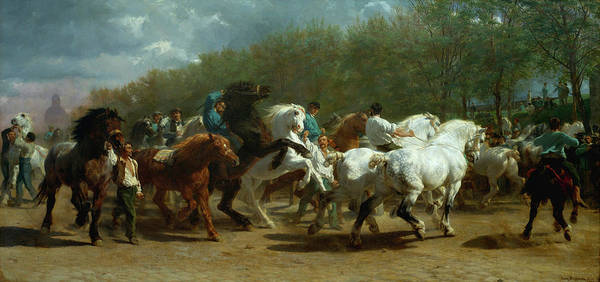 Draft Painting - The Horse Fair by Rosa Bonheur