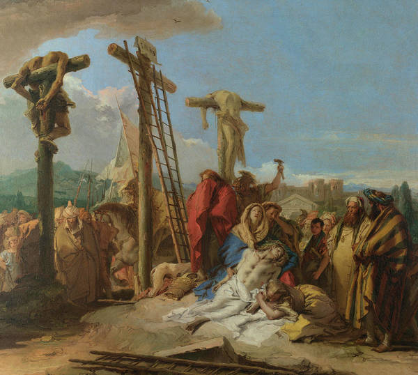 Wall Art - Painting - The Lamentation At The Foot Of The Cross by Giovanni Domenico Tiepolo