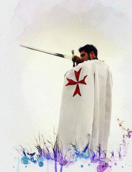 Wall Art - Painting - The Lone Crusader - Knights Templar by John Springfield