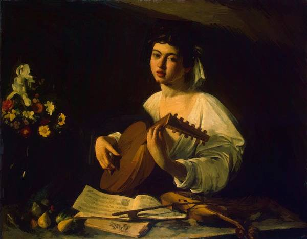 The Lute Player Art Print by Caravaggio