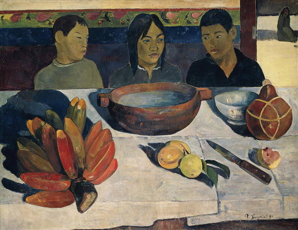 Protein Painting - The Meal   by Paul Gauguin