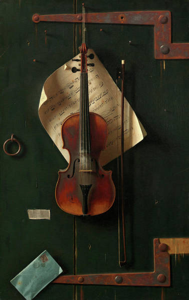 Toledo Painting - The Old Violin by William Michael Harnett