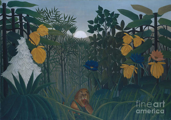 Wall Art - Painting - The Repast Of The Lion by Henri Rousseau