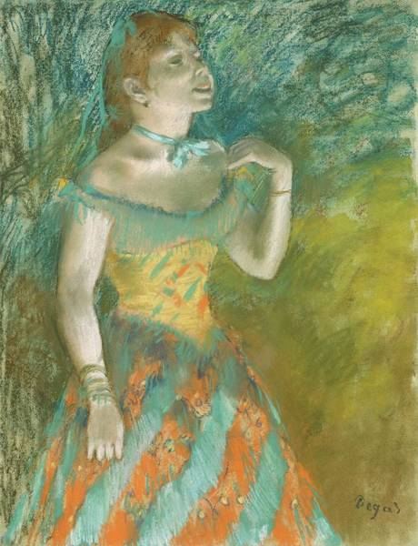 Pastel - The Singer In Green by Edgar Degas