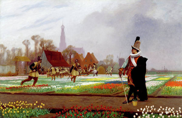 Collapse Painting - The Tulip Folly by Jean-Leon Gerome