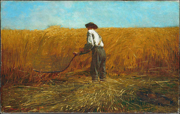 Wall Art - Painting - The Veteran In A New Field by Winslow Homer