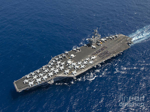 Wall Art - Painting - Uss Carl Vinson by Celestial Images