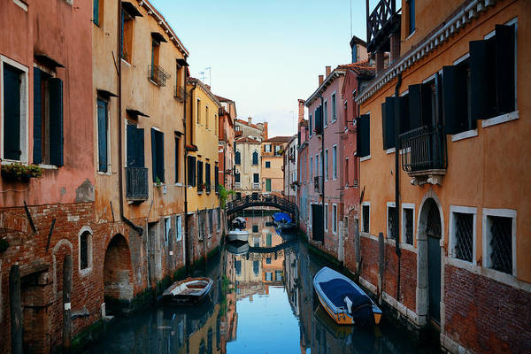 Photograph - Venice Canal by Songquan Deng