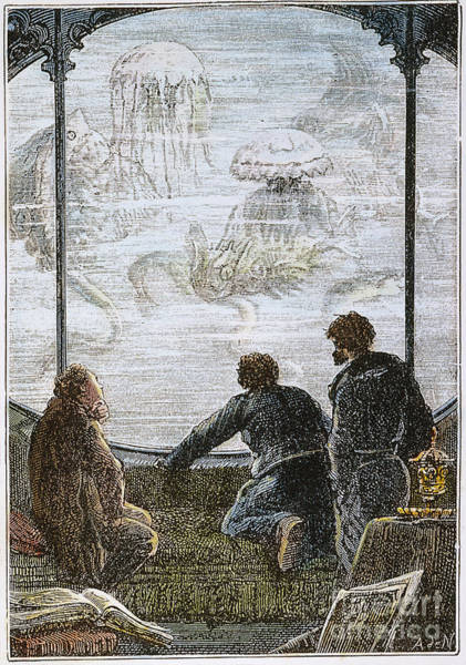 Jules Verne Wall Art - Photograph - Verne: 20,000 Leagues, 1870 by Granger