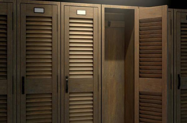 Wall Art - Digital Art - Vintage Locker And Open Door by Allan Swart