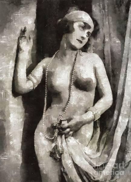 Naturist Wall Art - Painting - Vintage Nude by Mary Bassett