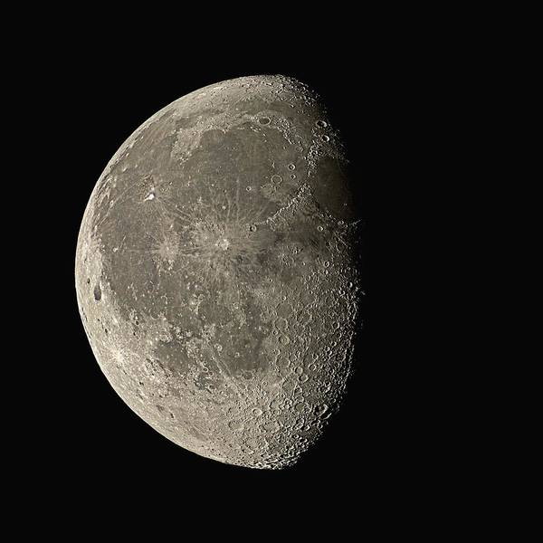 Satellite Photograph - Waning Gibbous Moon by Eckhard Slawik