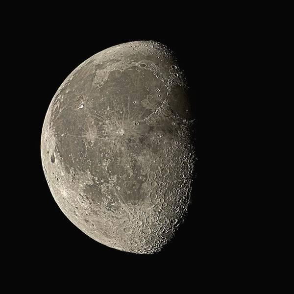 Period Photograph - Waning Gibbous Moon by Eckhard Slawik
