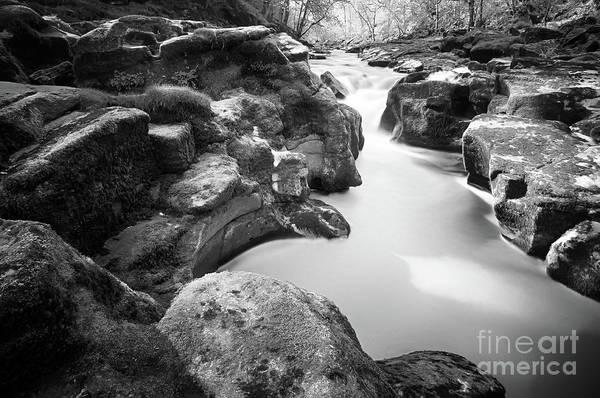 Photograph - Waterfall On The River Wharfe by Mariusz Talarek