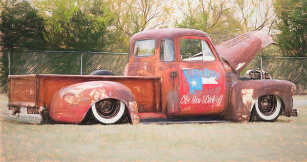 Awesome Show Digital Art - 5 Window Chevy by Timothy Rohman