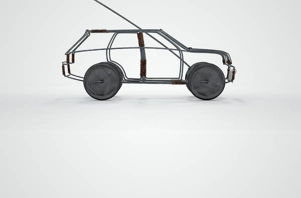 Wall Art - Digital Art - Wire Car by Allan Swart