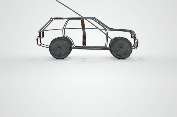 Wire Digital Art - Wire Car by Allan Swart