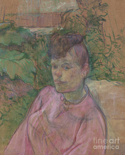 Wall Art - Painting - Woman In The Garden Of Monsieur Forest by Henri de Toulouse-Lautrec