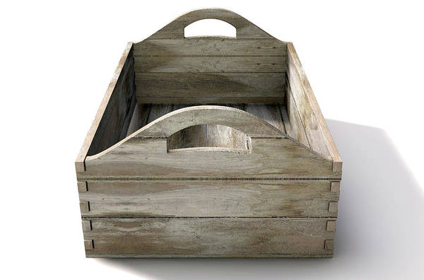 Timber Digital Art - Wooden Carry Crate by Allan Swart
