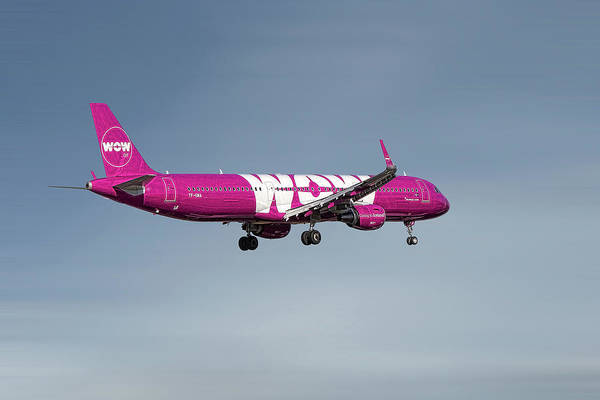 Wall Art - Mixed Media - Wow Air Airbus A321-211 by Smart Aviation