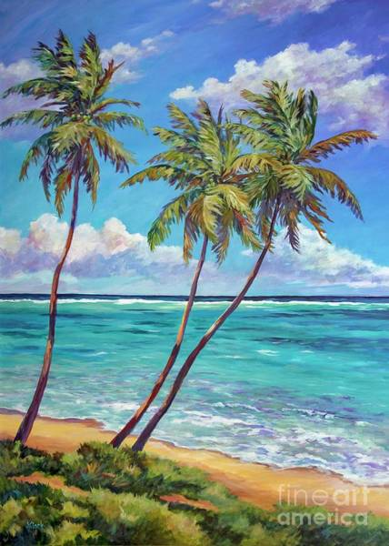 Wall Art - Painting - 5 X7 East End Palms by John Clark
