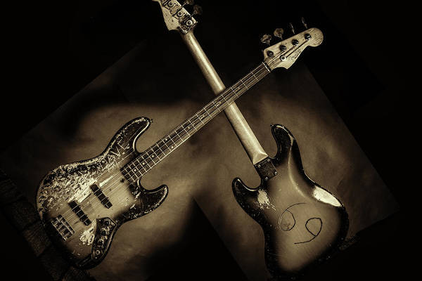 Photograph - 50.1834 011.1834c Jazz Bass 1969 Old 69 by M K Miller