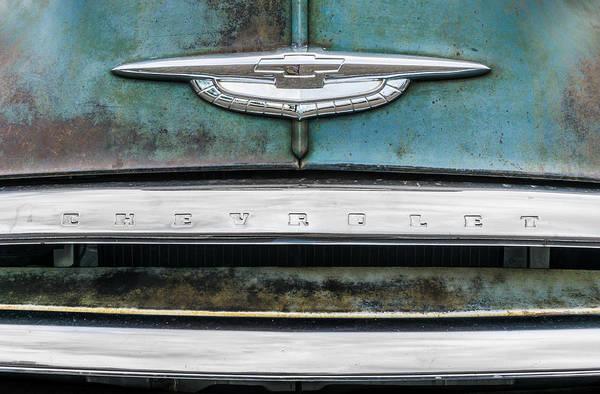 Wall Art - Photograph - 50s Chevrolet Logo by Jim Hughes
