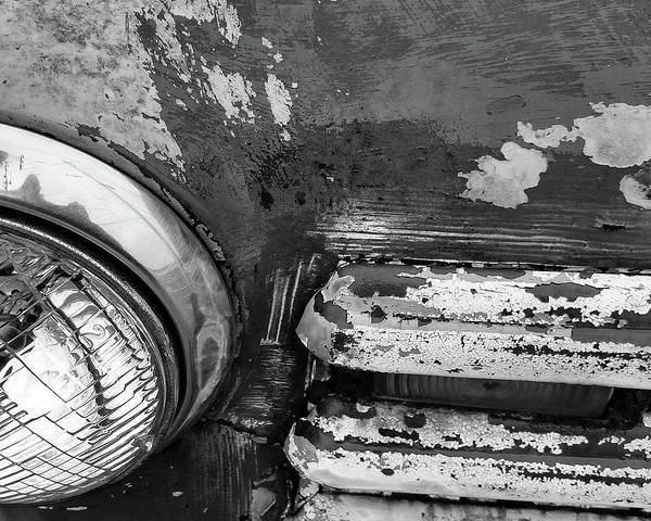 Photograph - 50's Chevy Headlamp by Rich Ackerman