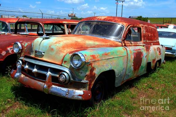Rockdale County Photograph - 50s Chevy Panel Wagon At The Auto Ranch by Corky Willis Atlanta Photography
