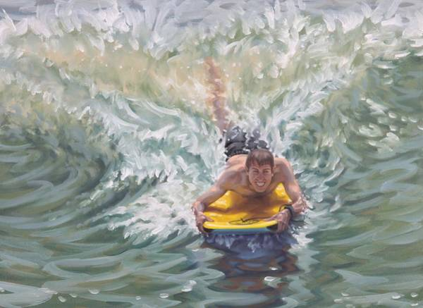 Painting - Surfing The A Frame by Gary M Long