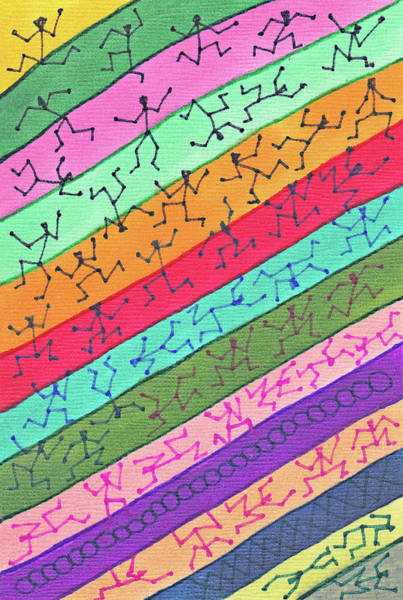 Drawing - 51  Stickmen  On  Colors by Carl Deaville