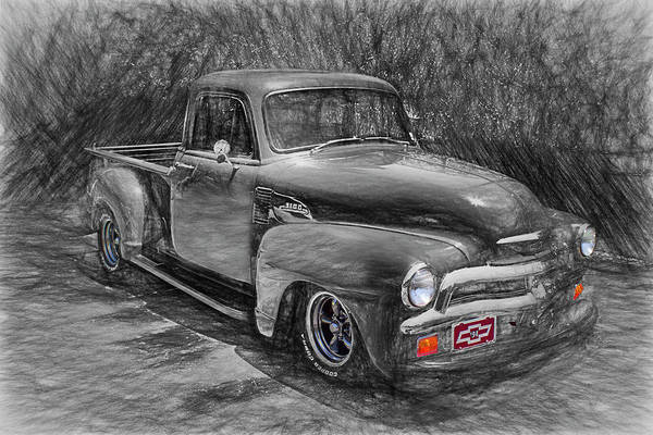 Photograph - 54 Chevy Truck by Carlos Diaz
