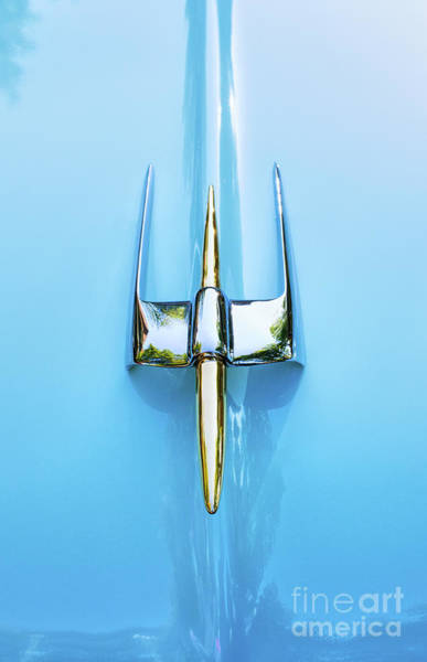 Wall Art - Photograph - 54 Lincoln Capri Hood Ornament  by Tim Gainey