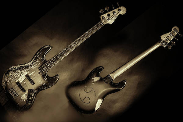 Photograph - 54.1834 011.1834c Jazz Bass 1969 Old 69 by M K Miller