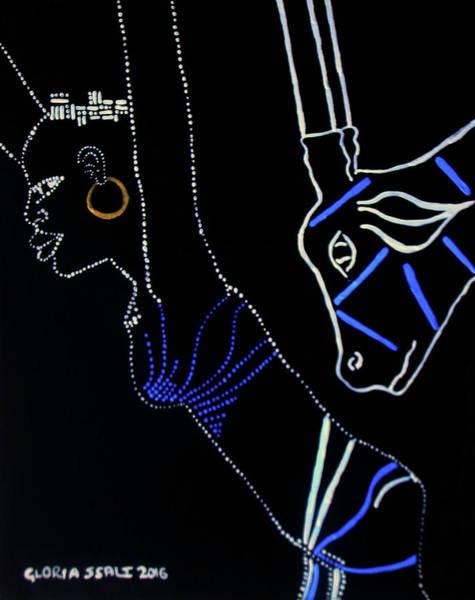 Painting - Dinka Bride - South Sudan by Gloria Ssali