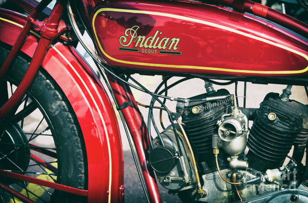 Photograph - 500cc Indian Scout by Tim Gainey