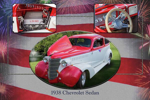 Photograph - 5515.02 1938 Chevrolet Sedan by M K Miller