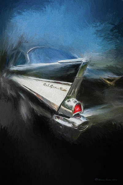 Old Chevy Photograph - 57' Belair by Marvin Spates