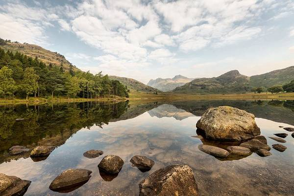 Grasmere Wall Art - Photograph - 57. Blea Tarn, The Langdales by Daron Lomax