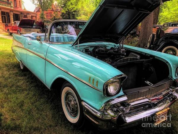 Photograph - 57 Chevy Bel Air Convertible  by Luther Fine Art
