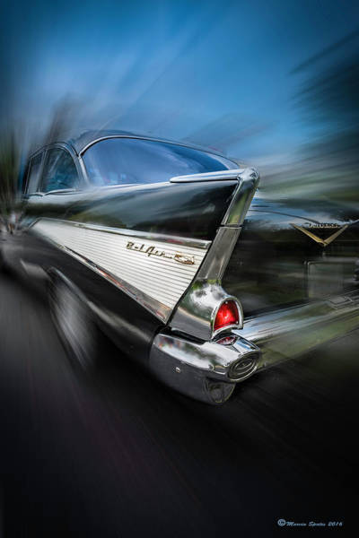 Old Chevy Photograph - 57' Go Power by Marvin Spates