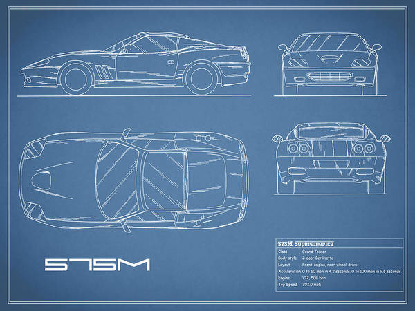 Wall Art - Photograph - 575m Superamerica Blueprint by Mark Rogan