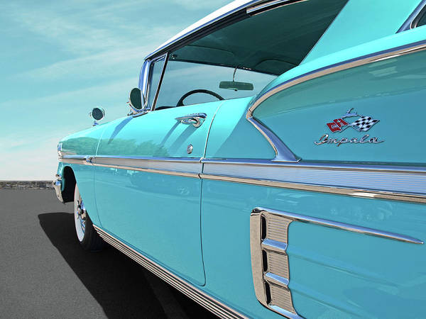 Photograph - 58 Chevy Impala In Turquoise by Gill Billington