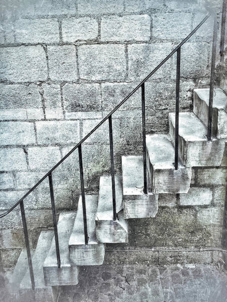 Bannister Wall Art - Photograph - Stone Steps by Tom Gowanlock